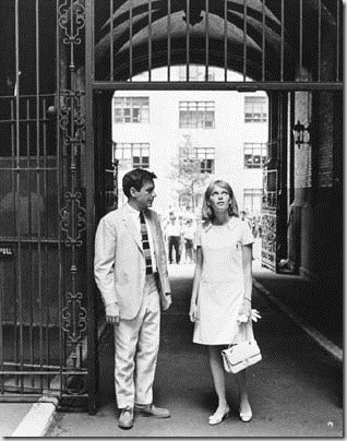 Image features John Cassavetes and Mia Farrow